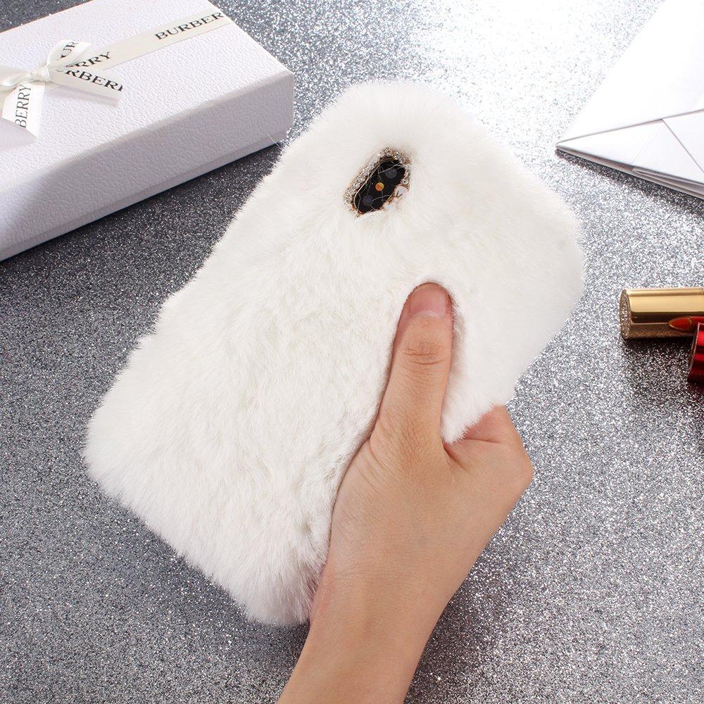 iPhone 10 H/ülle SevenPanda Handyh/ülle f/ür iPhone XS Braun Pl/üsch Hund Case Handgefertigt Schutzh/ülle Stilvolle Design Niedlichen 3D Diamant Bogen Schale f/ür iPhone X//XS 5.8