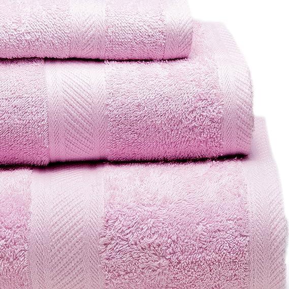 Sancarlos - Juego de 3 toallas YANAI, 100% Algodón, Color Lila: Amazon.es: Hogar