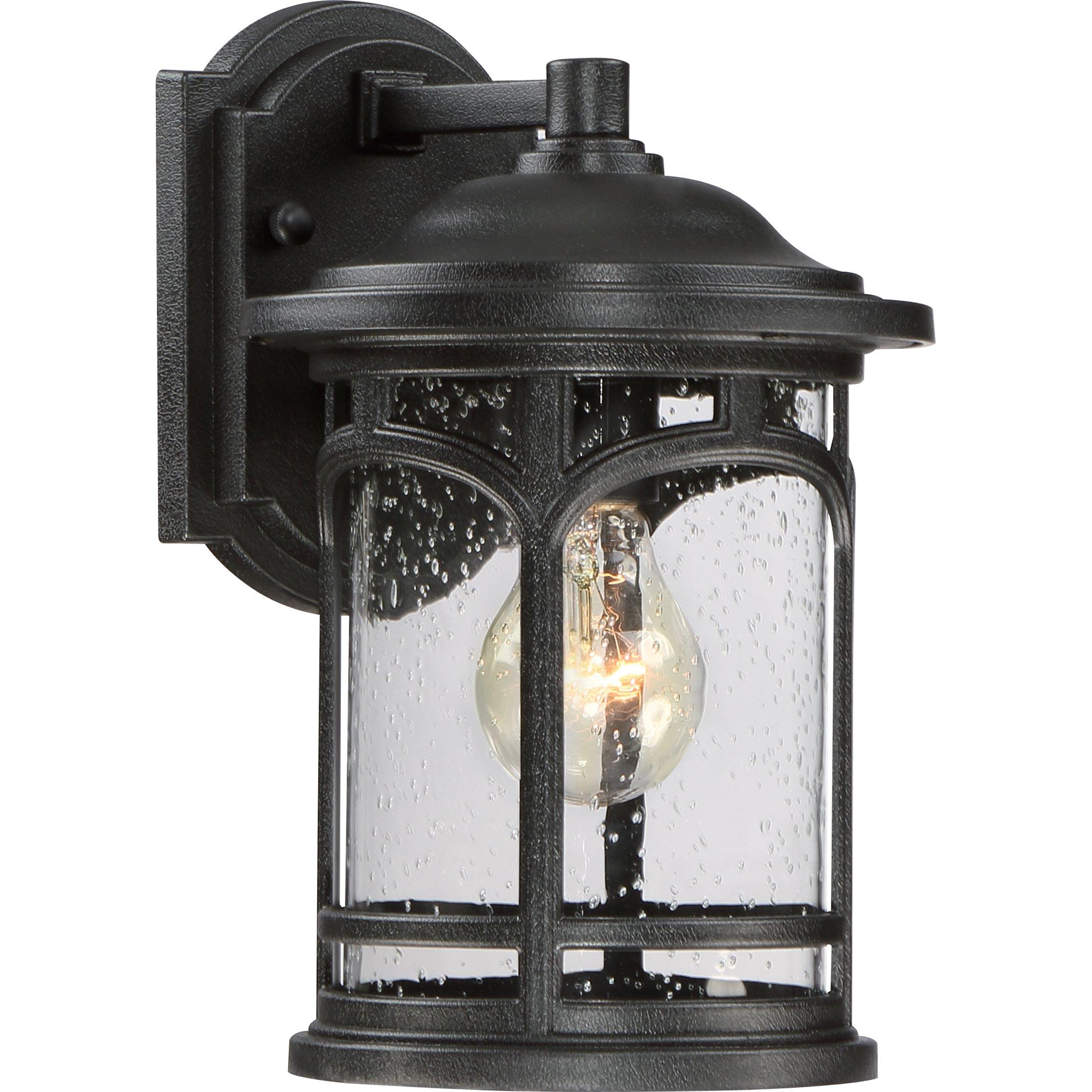 MBH8407KFL One Light Wall Marblehead Outdoor Lantern in Mystic Black
