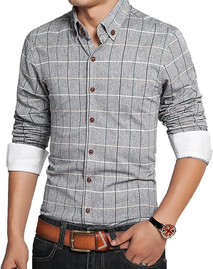 NEW Men Plaid Shirt Button /& Twill Cargo Shorts Side Pocket 8 Colors Size M-3XL