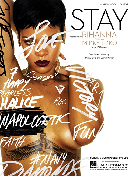 Amazon Rihanna Stay Pianovocal Sheet Music Musical