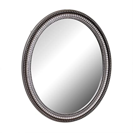 Awesome Zenith PMV2532BB, Oval Mirror Medicine Cabinet, Antique Pewter