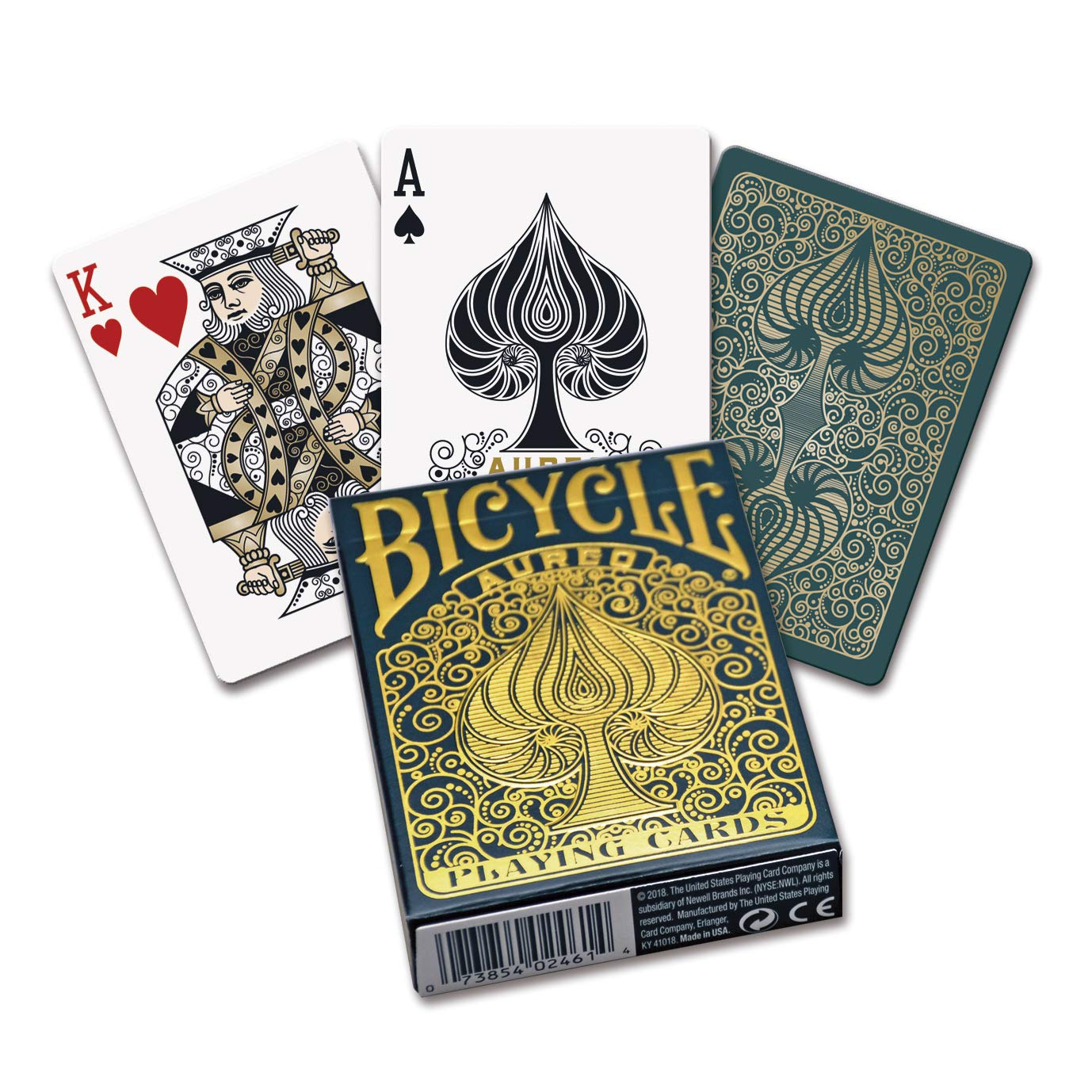 Amazon.com: Fournier 1042051 Bicycle Aureo Poker Playing ...