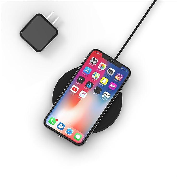 meet 3a76b fd1ed NightPad Fast Wireless Charger - True Apple iPhone 7.5W Fast Charging & No  LEDs for Darkness | iPhone Xs Max/XR/X/8 | 10W Max | Qi Certified (15W QC  ...