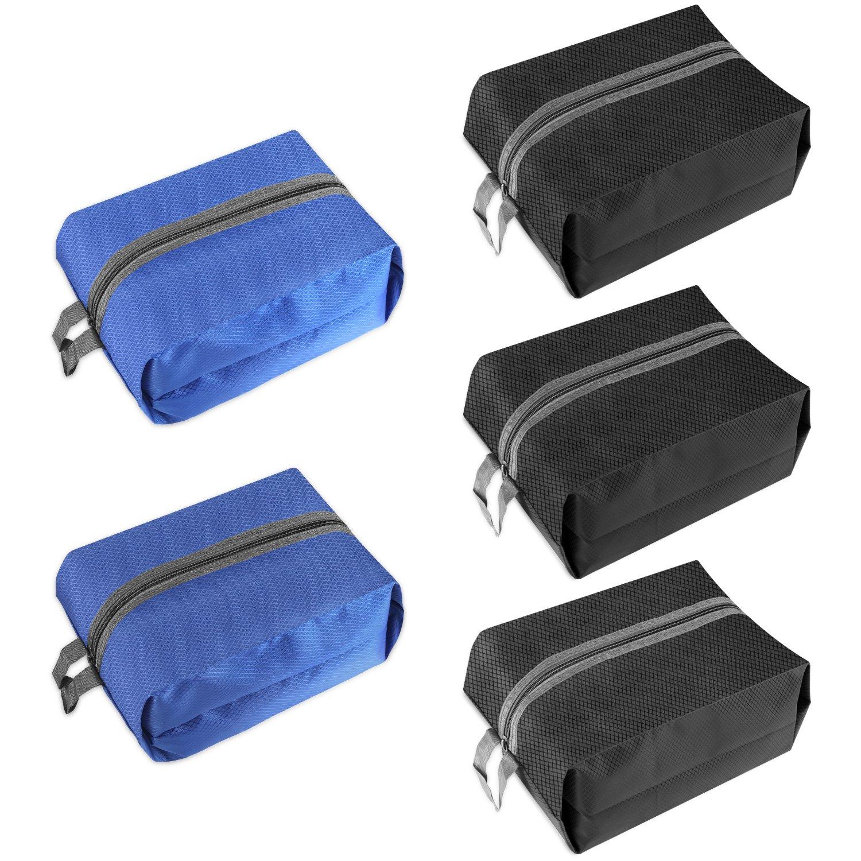 Travel Shoe Bags,IEKA 5 Pack Waterproof Nylon With Zipper Tote Storage Bag