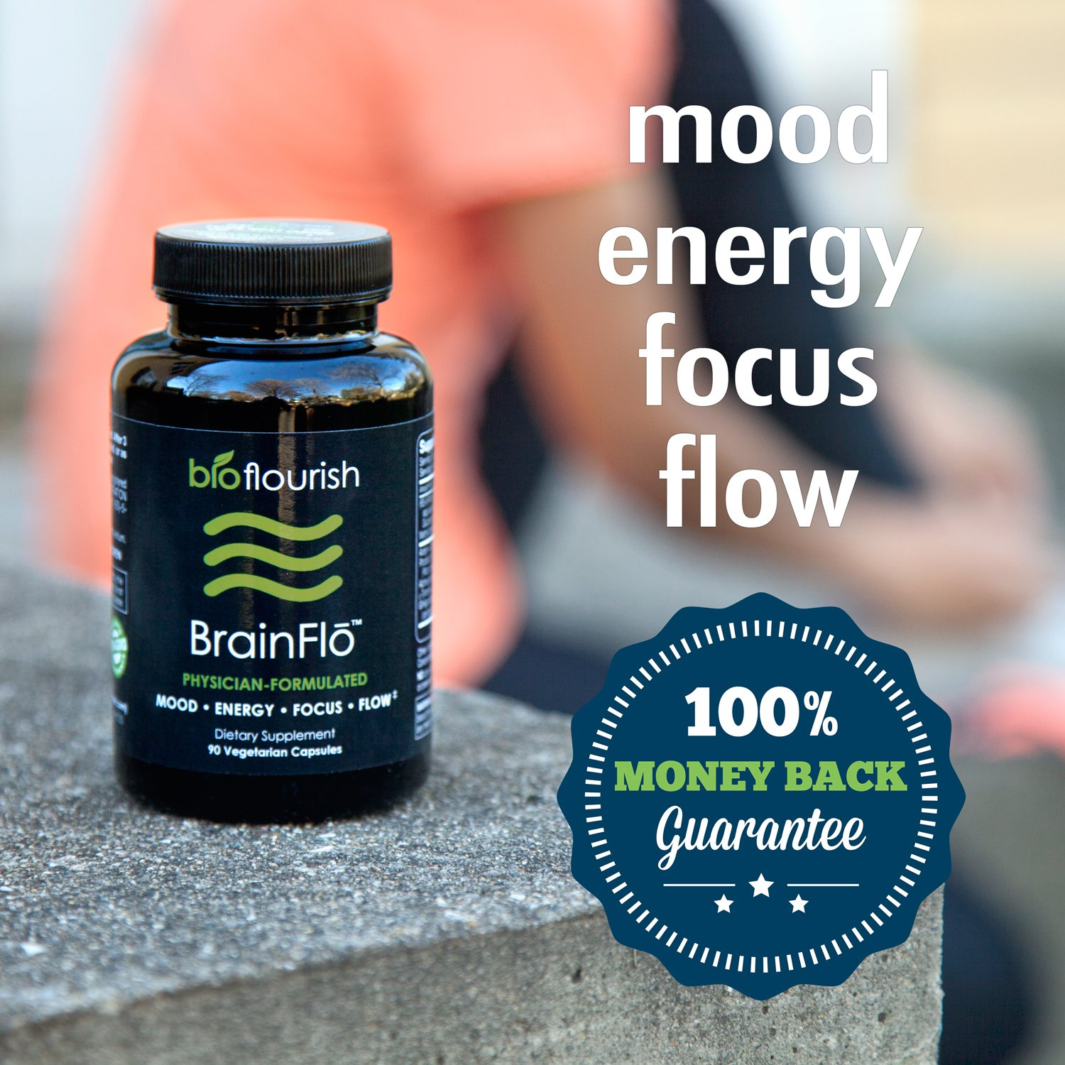 Nootropic Energy and Focus Brain Supplement: Non GMO Natural Cognitive Enhancement Pills for Mood, Memory, Mental Clarity, Concentration & Flow - Daily Brain Boosting Support Supplements (90 ct) by BioFlourish (Image #4)