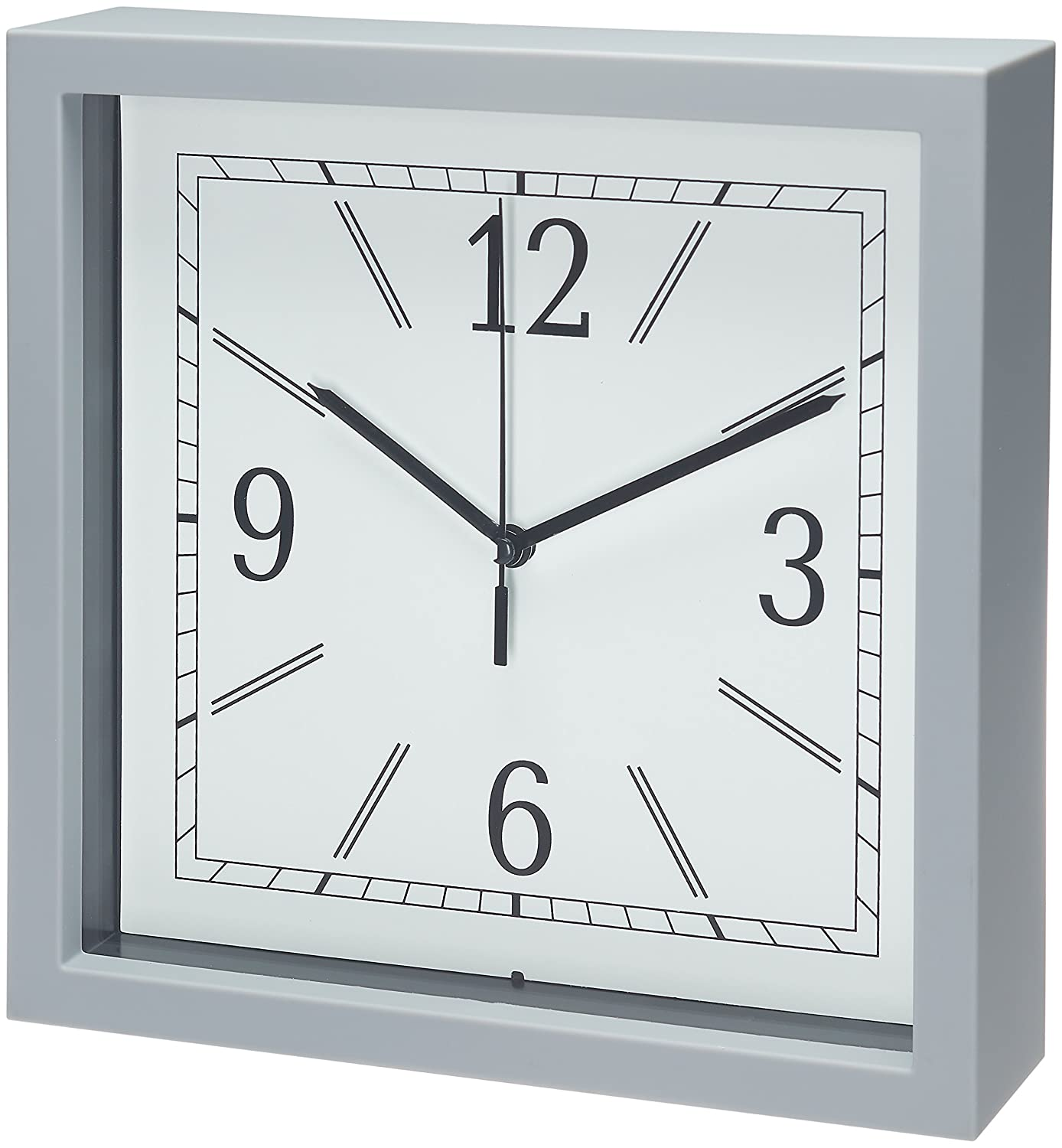 Amazon Bernhard Products Square Wall Clock 9 Grey Wall Clock