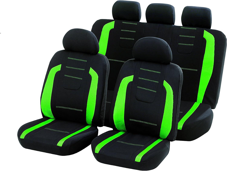 Unitec 84981 Sitzbezugset Fashion Greenflash 14 Teilig Auto