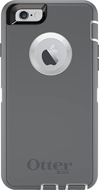 5b4593f2b9b9 Amazon.com  OtterBox DEFENDER iPhone 6 6s Case - Frustration Free Packaging  - GLACIER (WHITE GUNMETAL GREY)  Cell Phones   Accessories