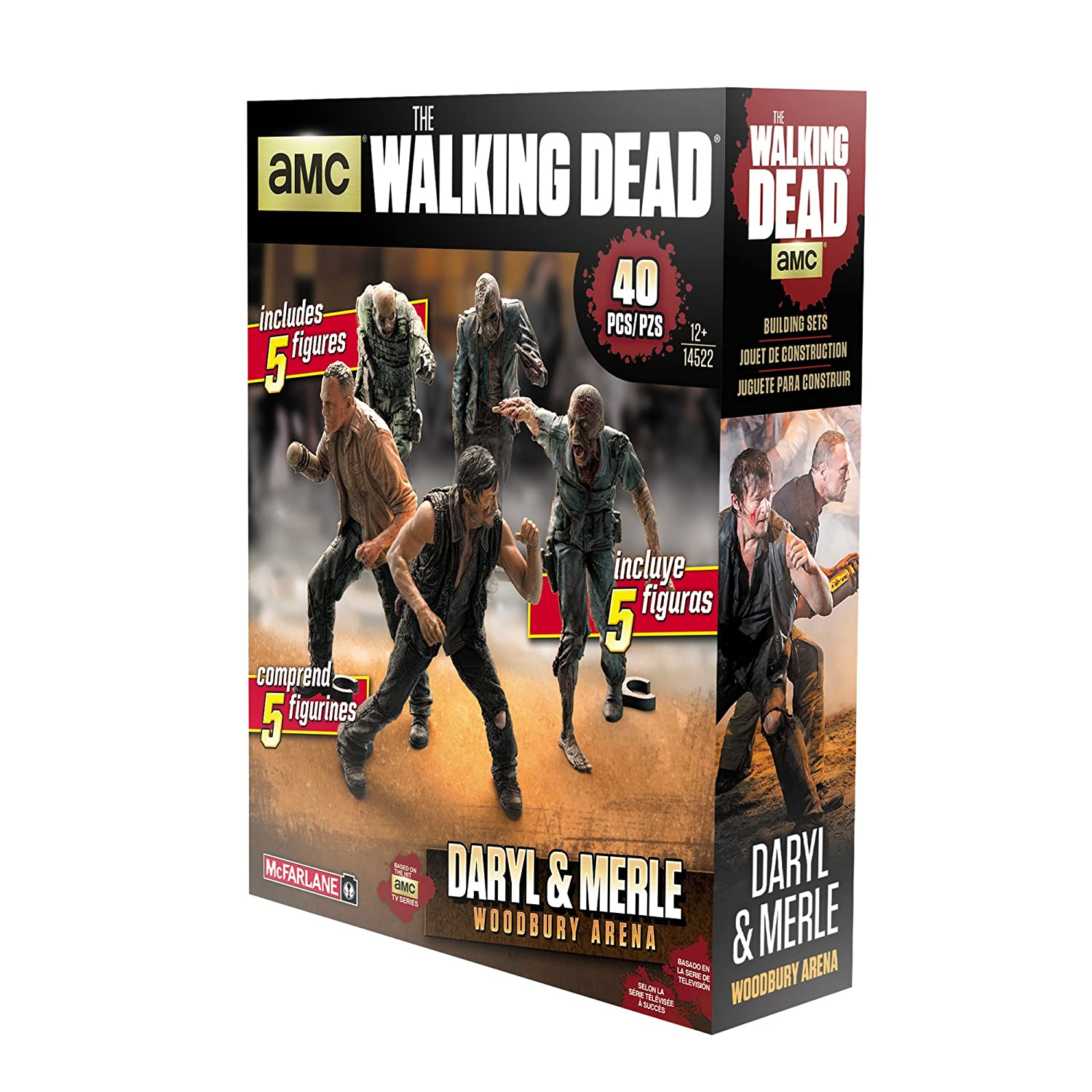 McFarlane Toys Construction Sets The Walking Dead TV Merle /& Daryl Woodbury Arena Pack Action Figure 14522-9