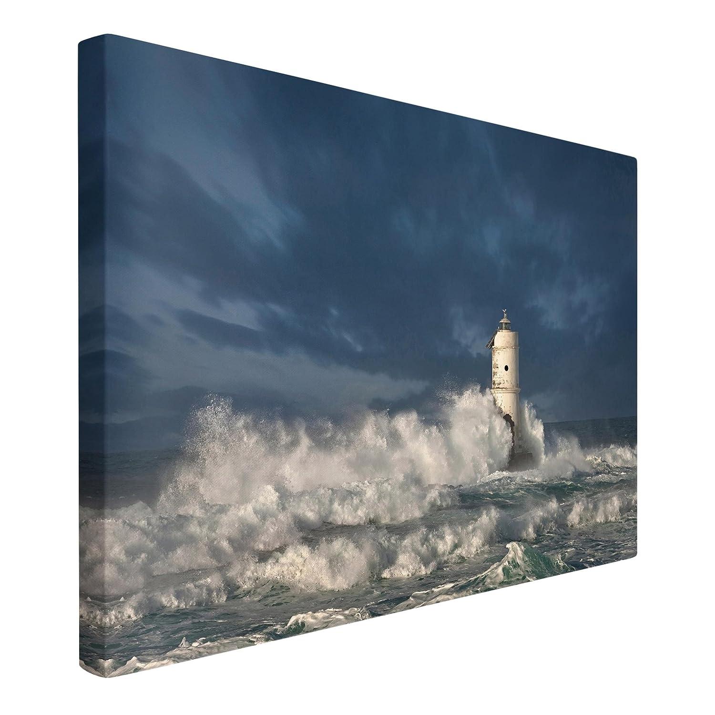 Bilderwelten Leinwandbild - Leuchtturm auf Sardinien - Quer 2  3, Größe HxB  80cm x 120cm