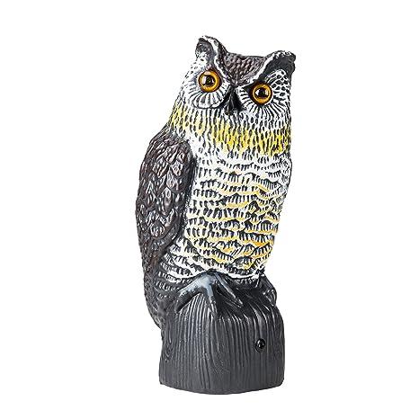 Merveilleux CO Z Bird U0026 Pest Repellent Deterrent Garden Protector Realistic Solar  Powered Motion Activated Owl