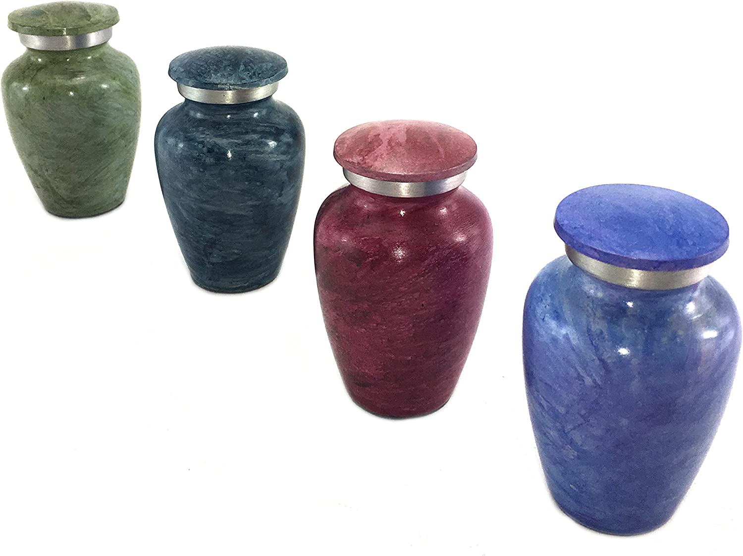 Small Keepsake Cremation Urn for Ashes Handmade Funeral Urns Set of 4 Premium Quality Memorial Mini Keepsake Urns Handcrafted to Perfection Engraved with Unique Design