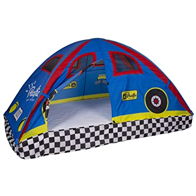 Pacific Play Tents 19710 Kids Rad Racer Bed Tent Playhouse - Twin Size: Toys & Games [5Bkhe0505928]
