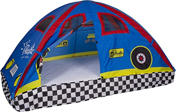 Pacific Play Tents 19710 Kids Rad Racer Bed Tent Playhouse - Twin Size