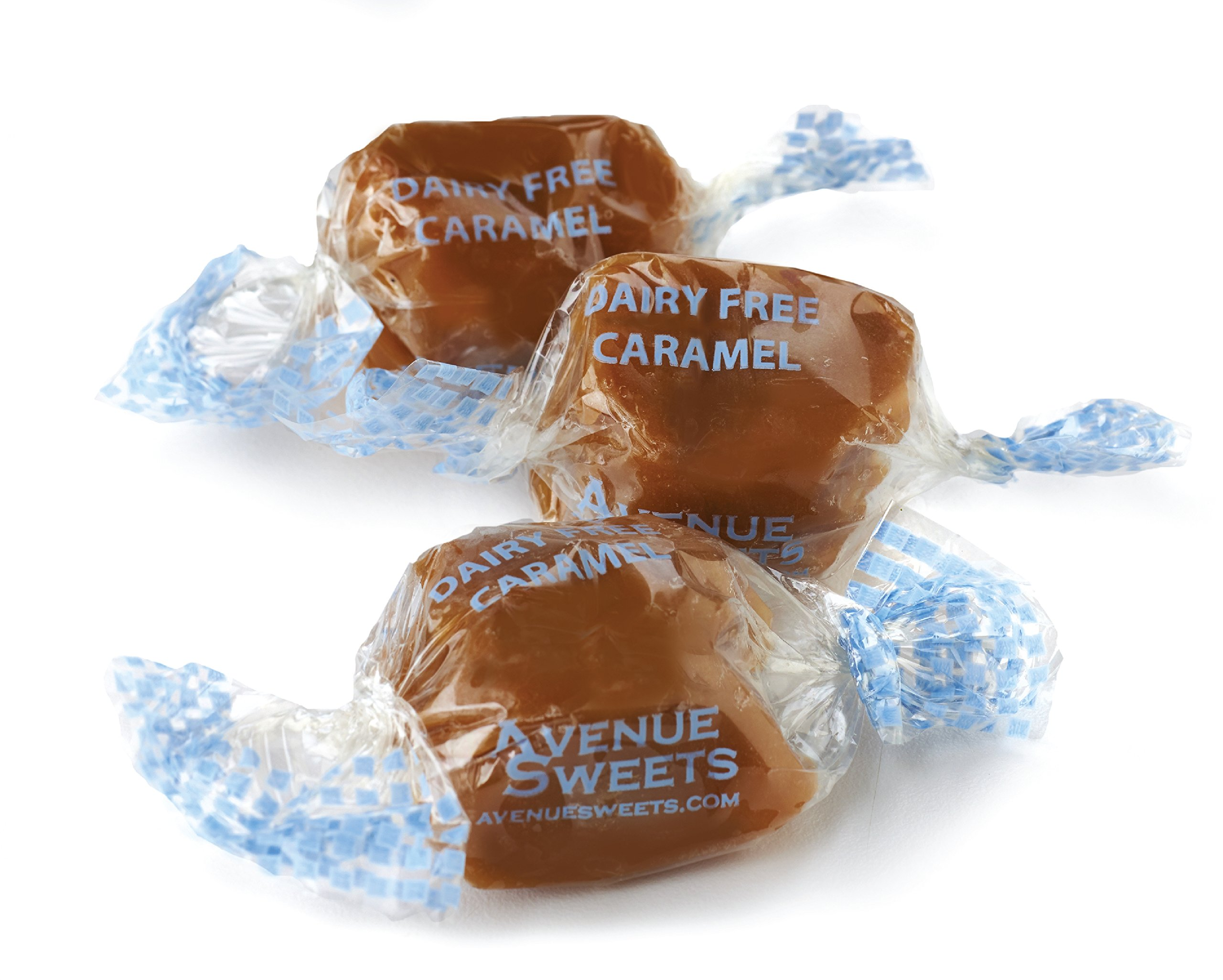 AvenueSweets - Handcrafted Dairy Free Vegan Individually Wrapped Soft Caramels - 2 lb Box - Sea Salt by AvenueSweets