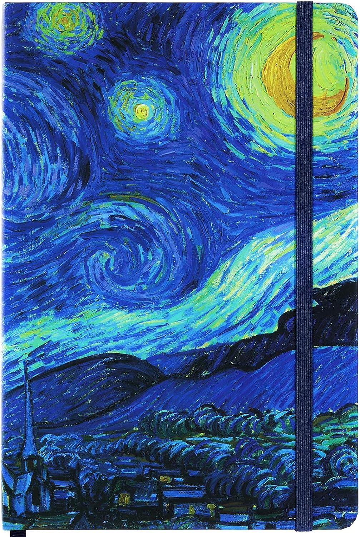 flaches 360 /° -Lagen zum einfachen Schreiben mit Premium-Papier Liniertes Notizbuch//Tagebuch Liniertes Tagebuch dicke R/ückentasche 8,4x 5,8 Hardcover Gef/üttertes Tagebuch Seitenmarkierung