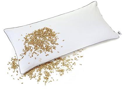 Cuscino Con Pula Di Farro.Natureca Cuscino Pula Di Farro Cuscino Per Cervicale Cuscino Naturale 100 Semi Di Farro Bio Con Fodera In Cotone Cuscino Ortopedico 40 X 80 Cm