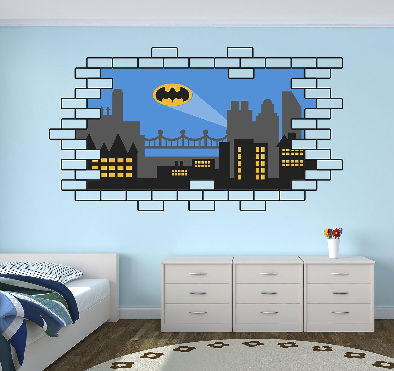 Amazon.com: Batman Gotham City Wall Decal Baby Boy Kids Decor Personalized  Nursery Gift Vinyl Art: Home Improvement