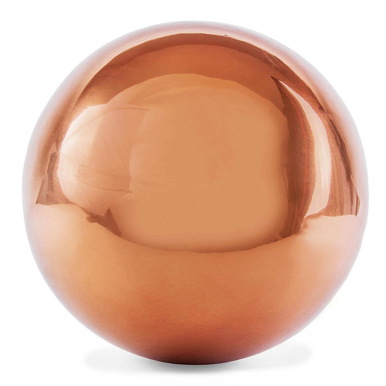 25cm Copper Stainless Steel Mirror Sphere Gazing Ball Garden Ornament Gardens2you