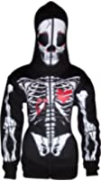 Women Full Face Mask Skeleton Skull Hoodie Sweatshirt Halloween Costume