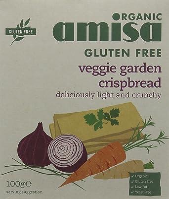 Amisa Organic Gluten Free Veggie Garden Crisp Bread 100g (Pack of 4)