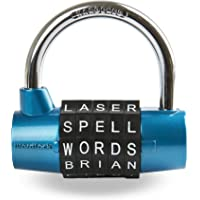Wordlock 5-Dial Padlock, 63mm, Blue