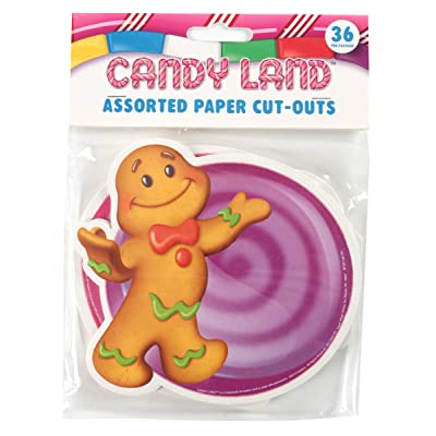 Eureka 841294 Candy Land Assorted Paper Cut-Outs, 12 Each of 3 Different Designs, 36-Piece : Childrens Paper Craft Kits : Office Products