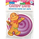Eureka 841294 Candy Land Assorted Paper Cut-Outs, 12 Each of 3 Different Designs, 36-Piece