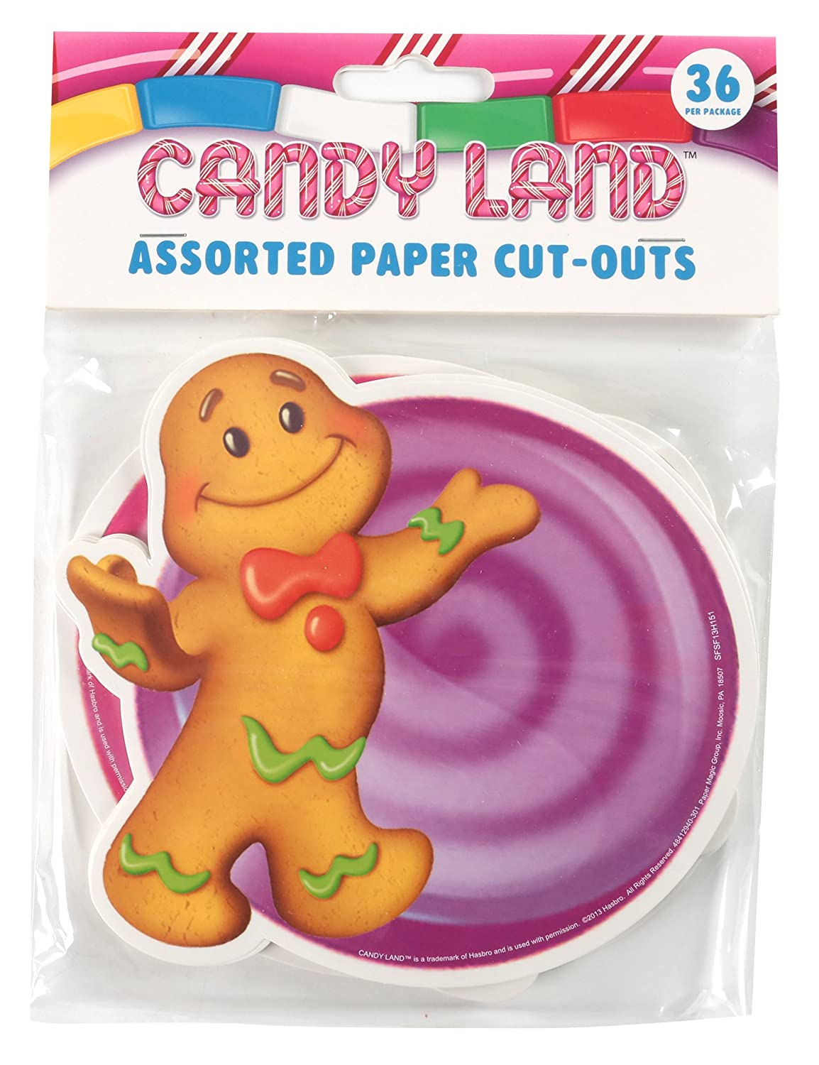 Eureka Candy Land Assorted Paper Cut-Outs, 12 Each of 3 Different Designs, 36-Piece