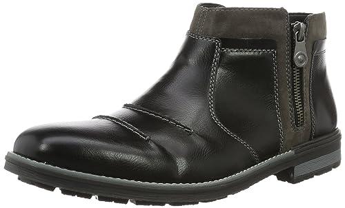 Rieker F1353, Botines para Hombre, Negro (Schwarz/Fumo / 00), 42 EU: Amazon.es: Zapatos y complementos