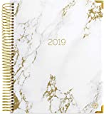"""bloom daily planners 2019 Calendar Year Hardcover Vision Planner (January 2019 - December 2019) - Monthly/Weekly Column View Inspirational Dated Agenda Organizer - 7.5"""" x 9"""" - Marble"""