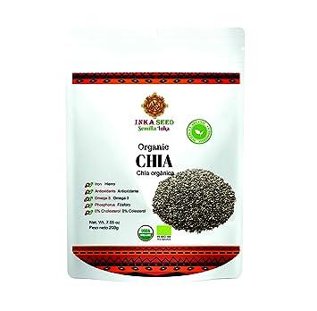 Inkaseed Organic Chia 7.05 oz (200 gr) Resealble Doypack Bag (Pack of 1)