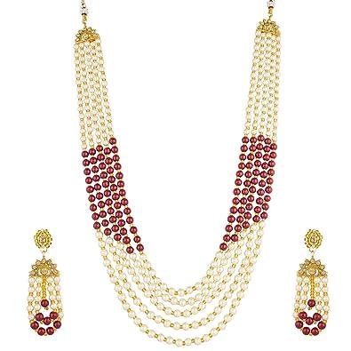 2ce877beaf3b9 Buy The Luxor Bridal Jewellery Multi-Strand Rani Haar Kundan Pearl ...