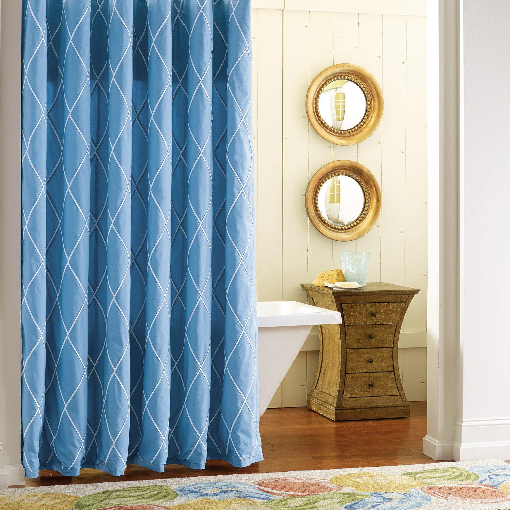 Company C Calypso Shower Curtain, 0, Capri Blue