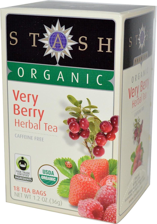 Stash Organic Herbal Tea Caffeine Free Very Berry - 18 Tea Bags (Package may vary)