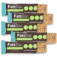 FattBar Keto Bar (Coconut & Macadamia, 5-Pack)   Natural and Delicious Keto Snacks   Low Net Carb, High Fiber, Low Sugar…