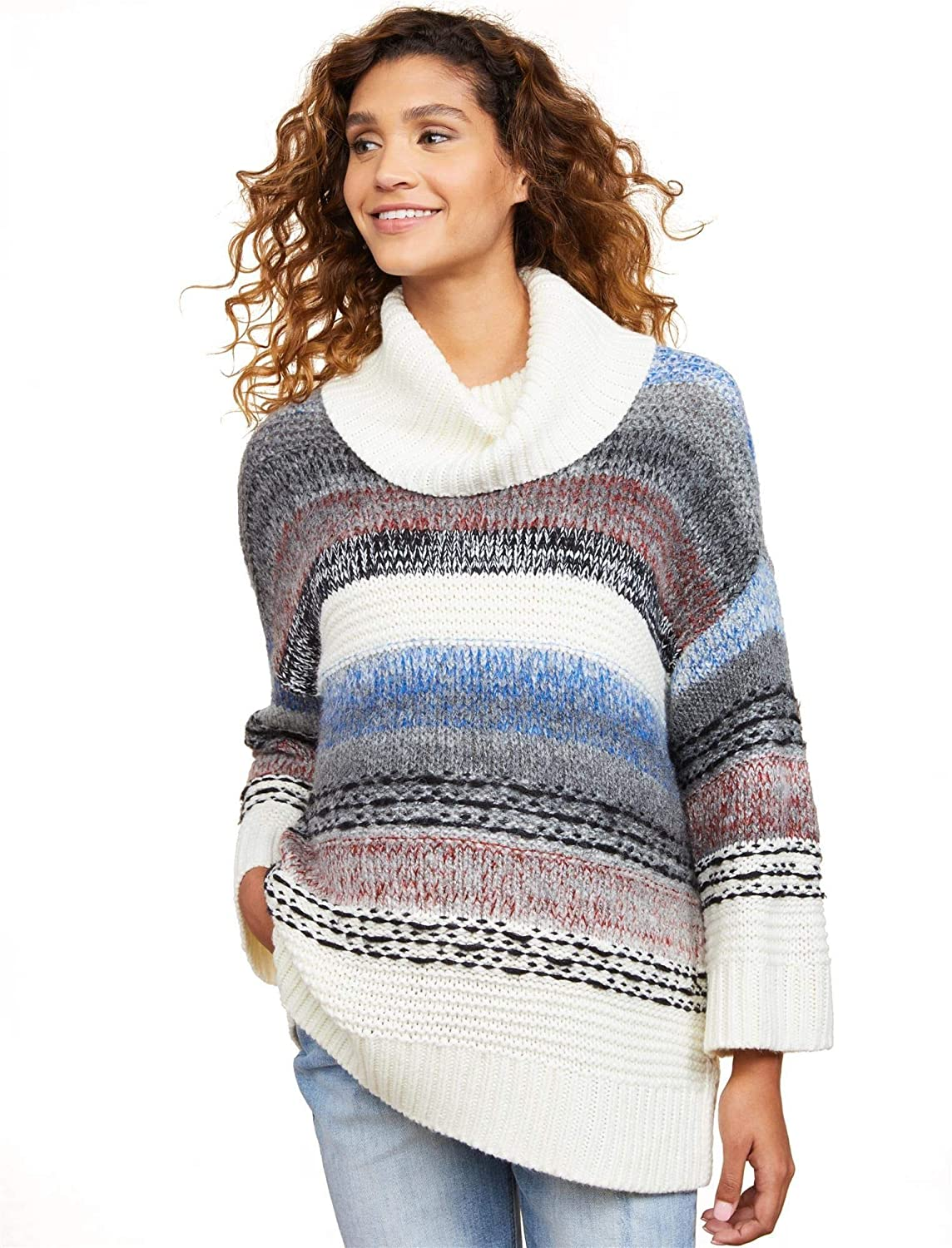 Motherhood Drape Front Maternity Sweater