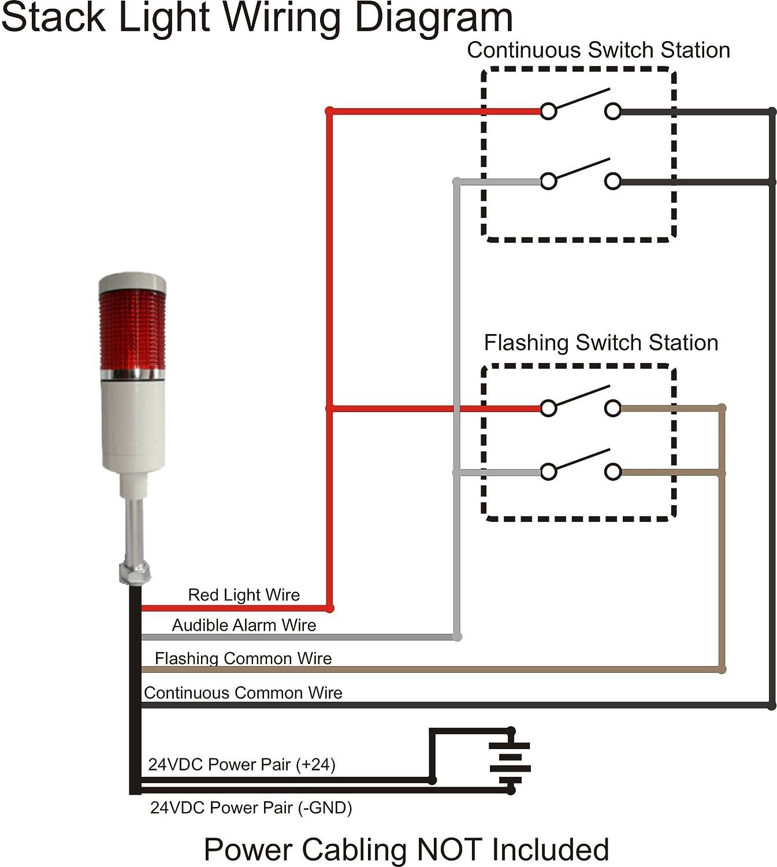 Steady American LED-gible LD-5221-100 LED Tower Light LED andon light LED stacklight Red 24VDC