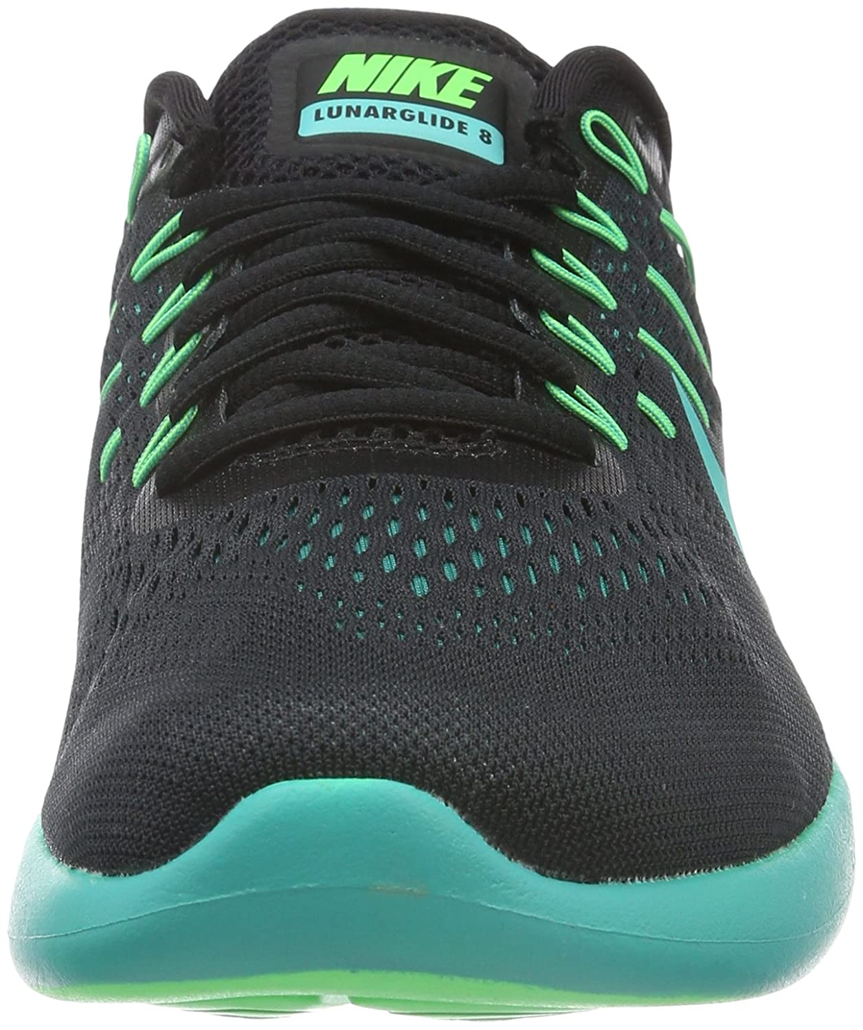 64a9cdb4a094 ... purchase nike lunarglide 8 mens training running shoes black black multi  color rio teal clear jade