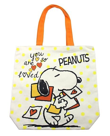 8bb2c89c9563 Amazon.com: Hatayama Shoji Peanuts Snoopy Canvas tote bag D 33696332 ...