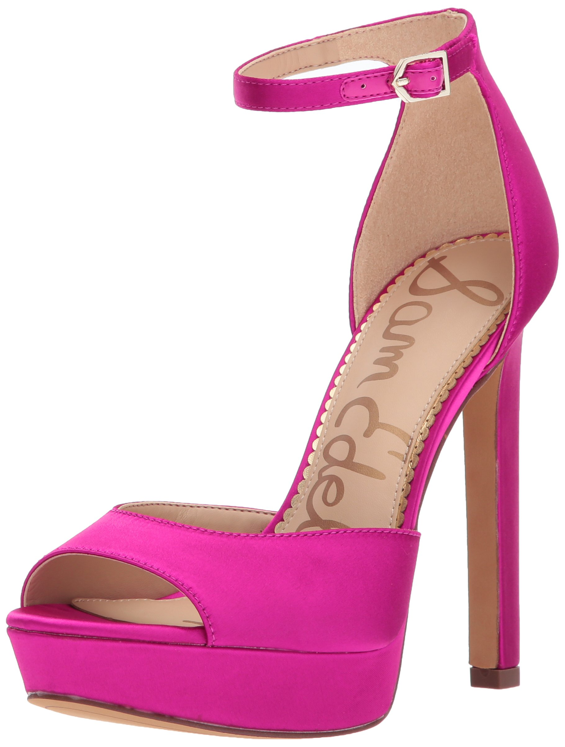 Sam Edelman Women's Wallace Heeled Sandal, Berry Crush, 9.5 Medium US