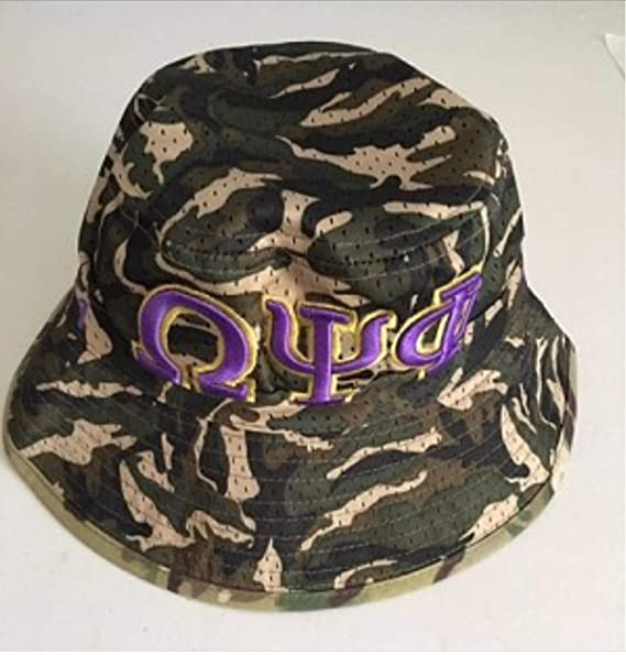 34994cb67 Omega Psi Phi Embroidered CAMO Bucket Hat