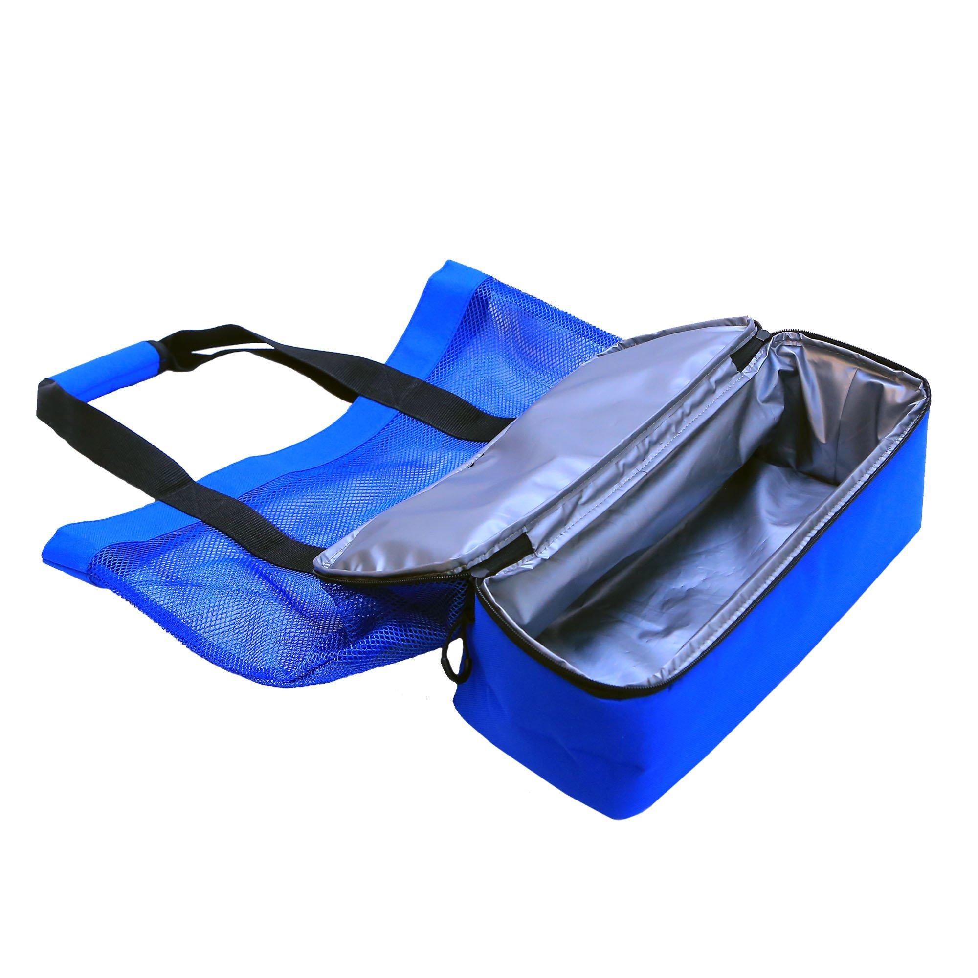 JU&JI's Beach Tote Bags – 2-in-1 Design – Mesh Bag & Built-in Picnic Cooler Compartment – Big or Extra Large Cooler Beach Bags – Padded Handle, Waterproof Zipper & Heavy-Duty Build by Ju&Ji (Image #7)
