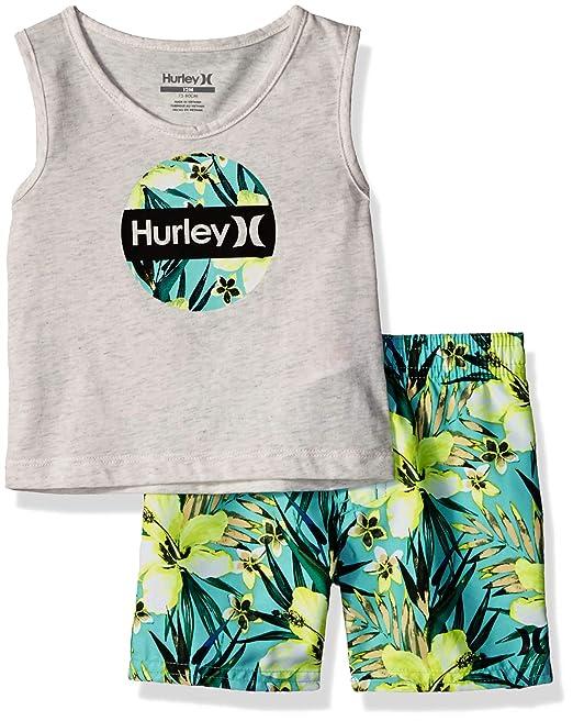 4a1973857df22 Hurley - Juego de bañador para bebé (2 Piezas)  Amazon.com.mx  Ropa ...