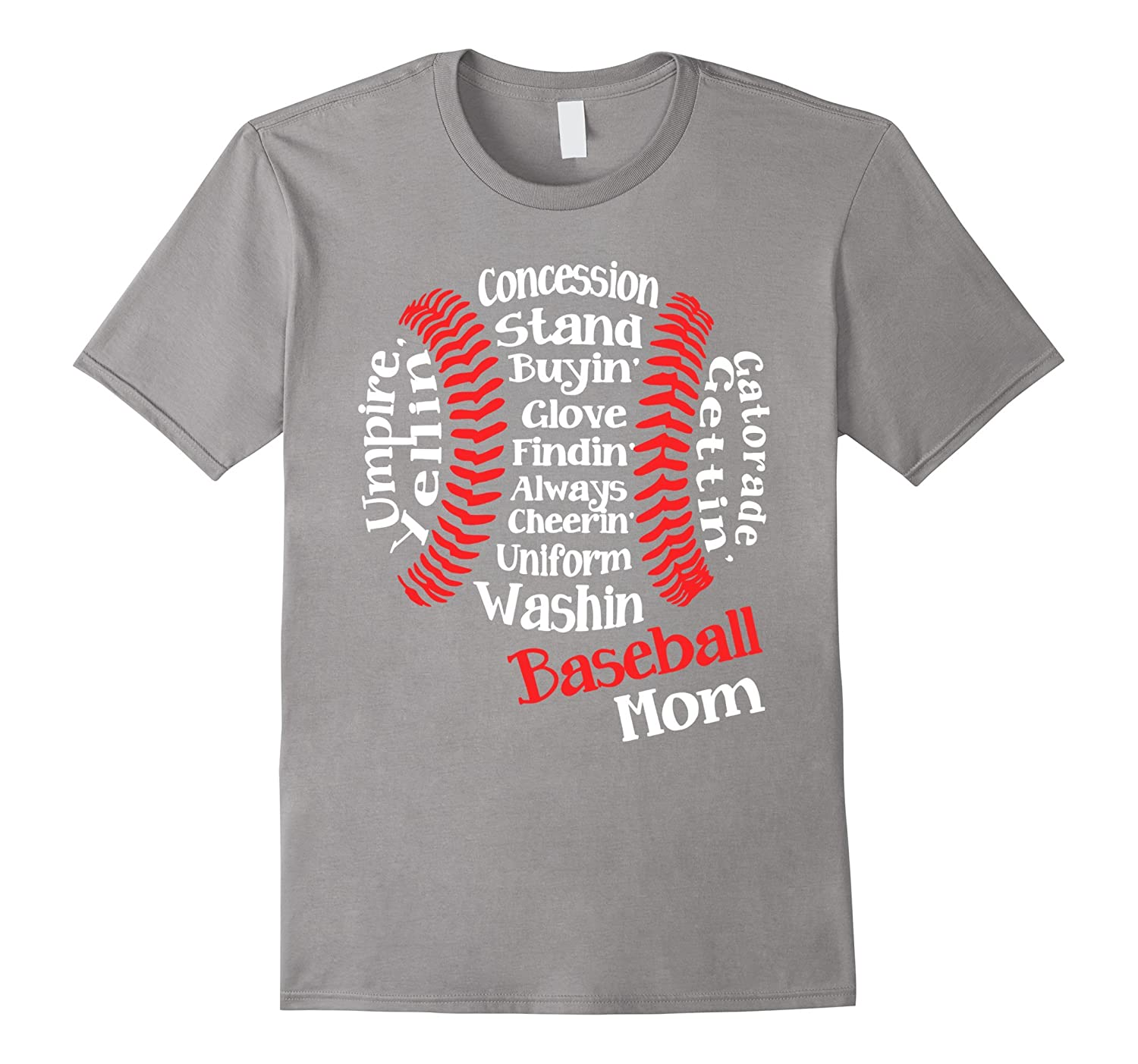 Baseball mom cloud text Baseball Mom Definition - Funny Tee-TH