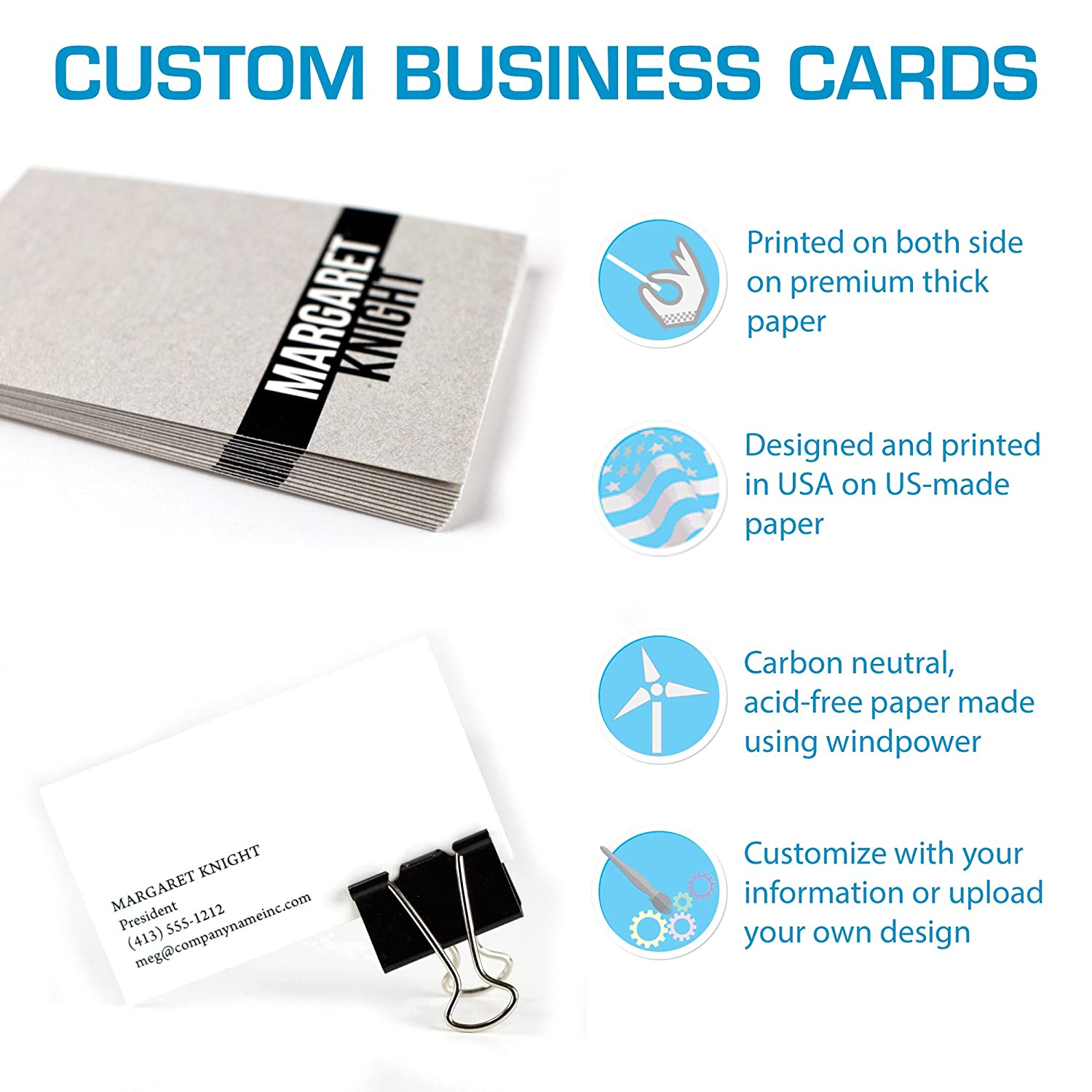 Amazon buttonsmith custom business cards double sided 110 amazon buttonsmith custom business cards double sided 110 lb smooth touch office products colourmoves