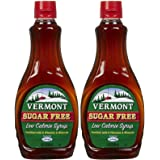 Maple Grove Farms Vermont Sugar Free Syrup, 12 Fl Oz (Pack of 2)