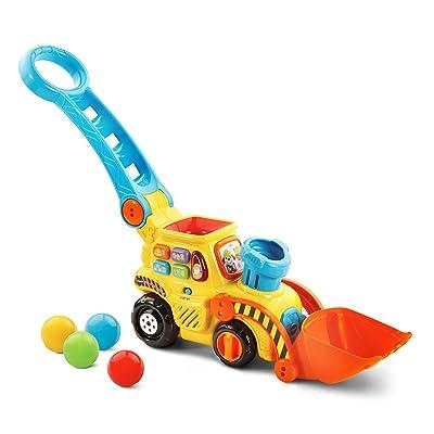 VTech Pop-a-Balls Push & Pop Bulldozer: Toys & Games