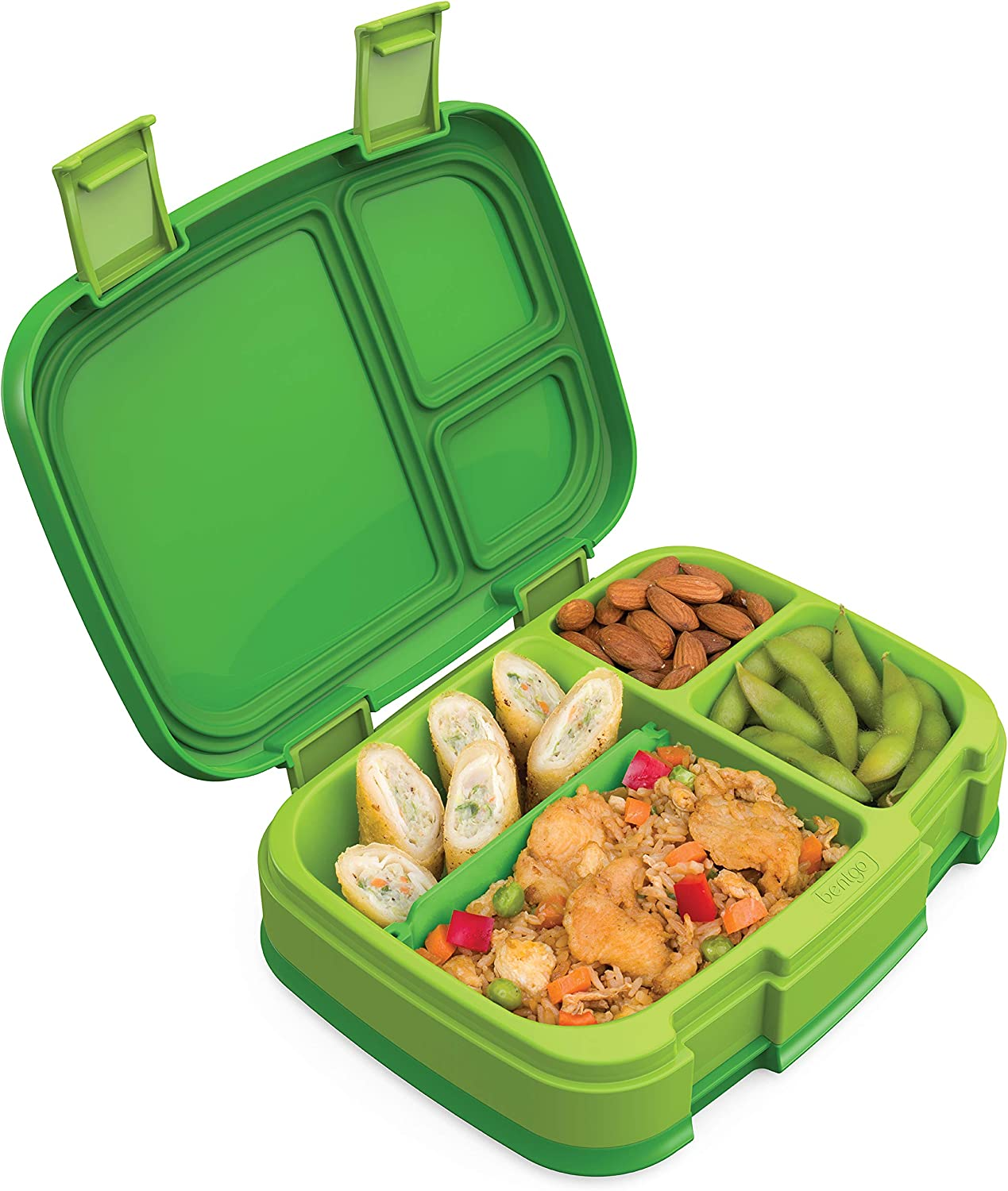 Bentgo Fresh (Green) – New & Improved Leak-Proof, Versatile 4-Compartment Bento-Style Lunch Box – Ideal for Portion-Control and Balanced Eating On-The-Go – BPA-Free and Food-Safe Materials